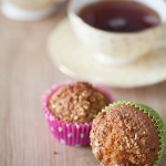 Muffins express aux raisins, angélique et praliné