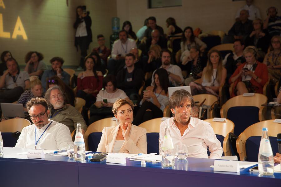 Finale Grands chefs du BPWC 2016 Paolo Lorpiore, Vittoria Belvedere, Davide Oldani
