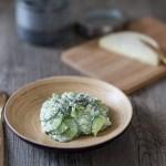 Salade de concombres au fromage de brebis