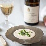 Velouté de Chou Fleur -Crème Dubarry et Santenay 1er cru Clos des Gravières 2013