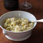 La plus délicieuse des fondues de poireaux pour aller avec un Champagne Blanc de Noirs Palmer