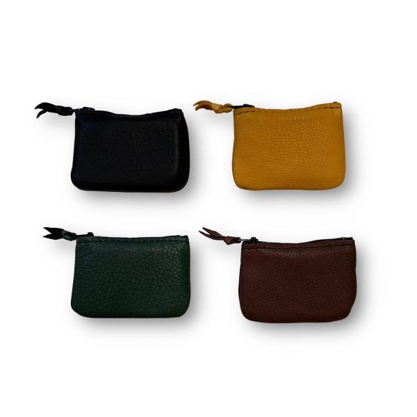 enuine Deerskin Leather coin pouch with zipper