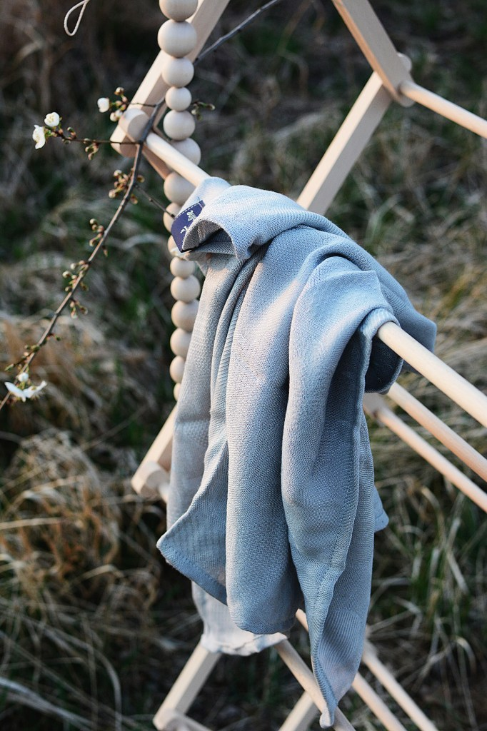 Texpol bamboo line szara pieluszka bambusowa