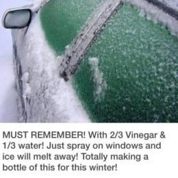 vinäger tar bort is