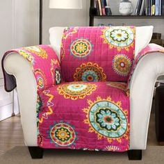 Suzani Arm Chair Cover