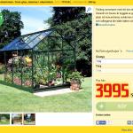 Prisvärt växthus