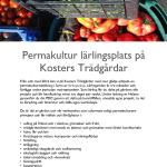 Lärling på Kosters Trädgårdar i permakulturutbildning