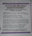 Stiftelsen Melinska Semesterhemmet