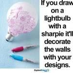 Rita mönster på en en lampa och få fina mönster i rummet