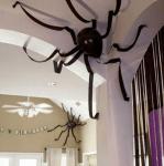 Stora spindlar på väggen