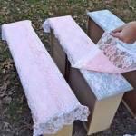 Måla mönster av spetsdukar på möbler