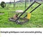 Ekologisk gräsklippare med automatisk gödsling