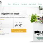 Prova Linas vegetariska matkasse med ägg, ost och mjölkprodukter och spara 270kr