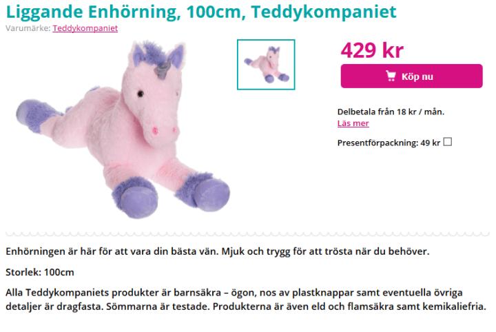rosa ponny mjukisdjur