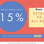 15% extra på rean på Boozt.com