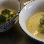 Broccolisoppa med protein från kikärtor