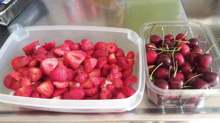 bär jordgubbar bigarråer