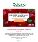 Rabattkod med 20% på alla fruktträd och bärsorter