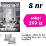 8 st tidningar av Sköna hem plus 2 st bäddset