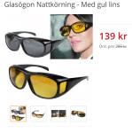 Använd glasögon för nattkörning och du slipper att bli bländad!