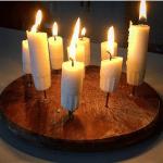 En stake till ljusstumpar
