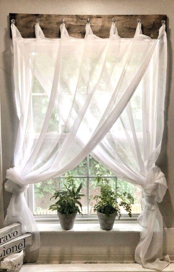 spännande gardinuppsättning