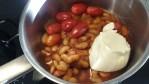 Igår blev det mustig tomatsoppa med vita bönor