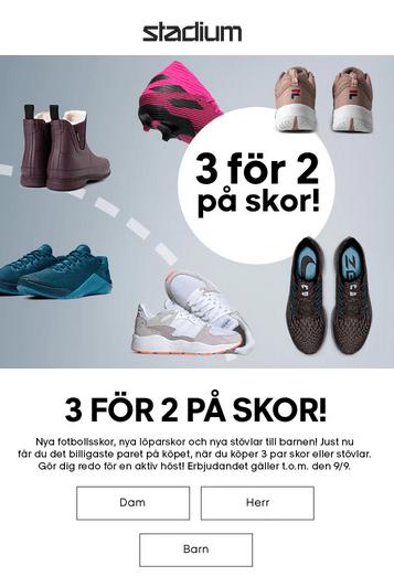 köp 3 betala för 2 skor