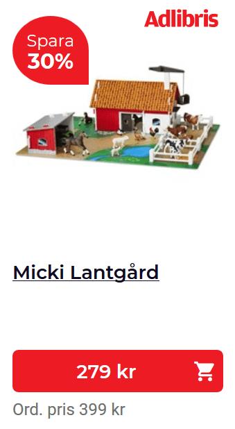 bondgård leksak barn