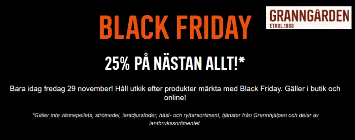 black friday Granngården