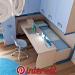Säng under skrivbord