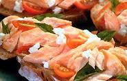 Pink Salmon and Laguna Cheese Bruschetta