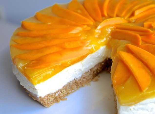 Japanese Mango Cake Recipe: No-Bake Mango Cheese Cake Recipe