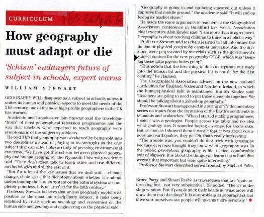 Geography must adapt or die