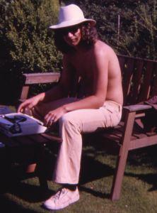 Gus in the garden