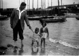 Alfred, Steve and Jan. Broadstairs 1953