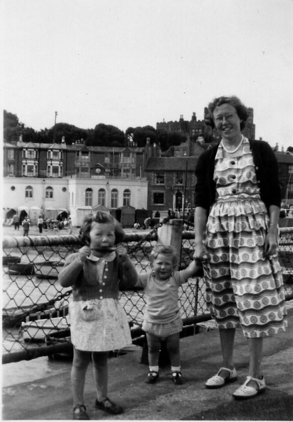 Jan, Steve, Lorna in Broadstairs 1953