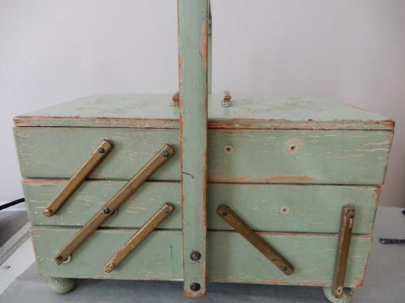 Sewing Box before repair