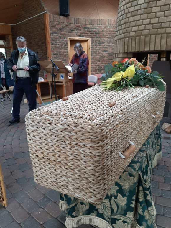 Eco-friendly banana leaf coffin
