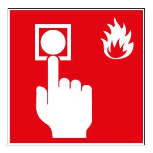 panneaux signalisation santé sécurité travail Point d'alarme incendie