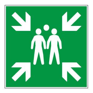 panneaux signalisation santé sécurité travail Point de rassemblement après évacuation