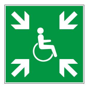 panneaux signalisation santé sécurité travail Refuge temporaire d'évacuation