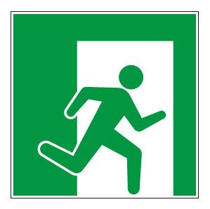 panneaux signalisation santé sécurité travail Sortie de secours droite