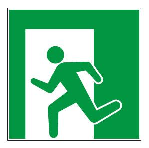 panneaux signalisation santé sécurité travail Sortie de secours gauche