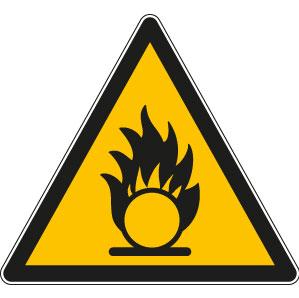 panneaux signalisation santé sécurité travail Substances comburantes