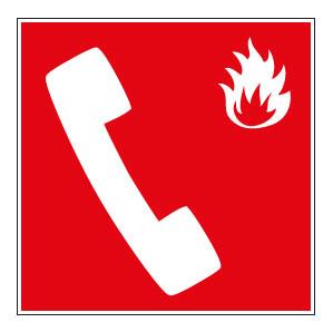 panneaux signalisation santé sécurité travail Téléphone en cas d'incendie
