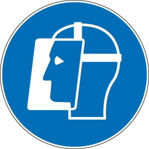 panneaux signalisation santé sécurité travail Visière de protection