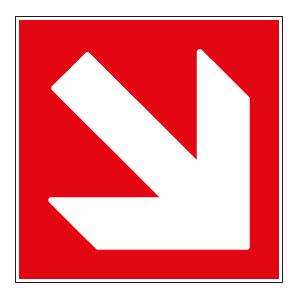panneaux signalisation santé sécurité travail Directions à suivre : bas droite