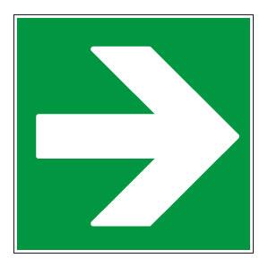 panneaux signalisation santé sécurité travail Directions à suivre : droite vert