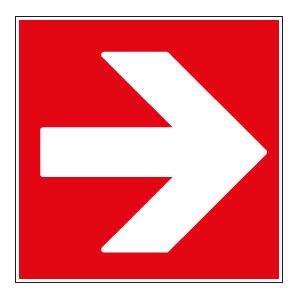 panneaux signalisation santé sécurité travail Directions à suivre : droite